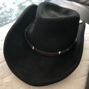 Rider Small Black Felt Cowboy Hat